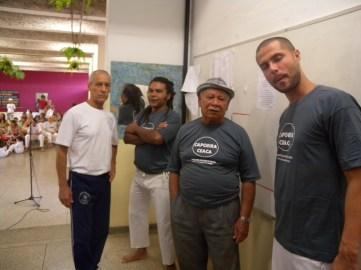 Mestre Dorival, brincante Fofão, Mestre Durval do Coco e professor Gustavo