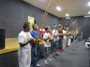 Berimbalada na abertura do evento em Embu das Artes.