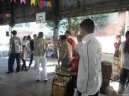 Mestre Alcides de Lima se prepara para a abertura da Festa Junina.