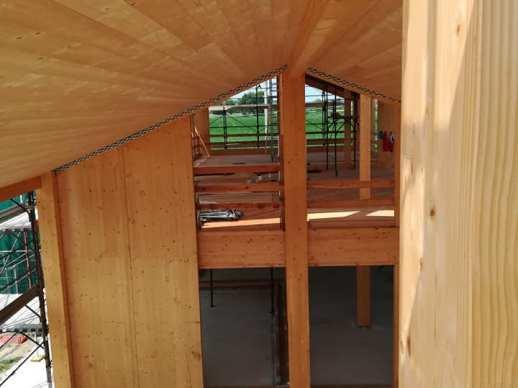 La tettoia dall'interno