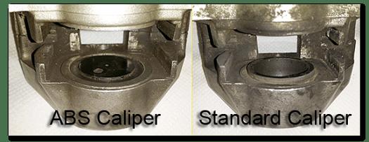 Aprilia Caponord ETV1000 Rally-Raid rear caliper differences ABS standard