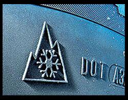 Snowflake symbol on true 'winter' tyres