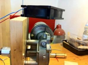 Side view of the motor fan