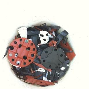 Shredded PP flower pots
