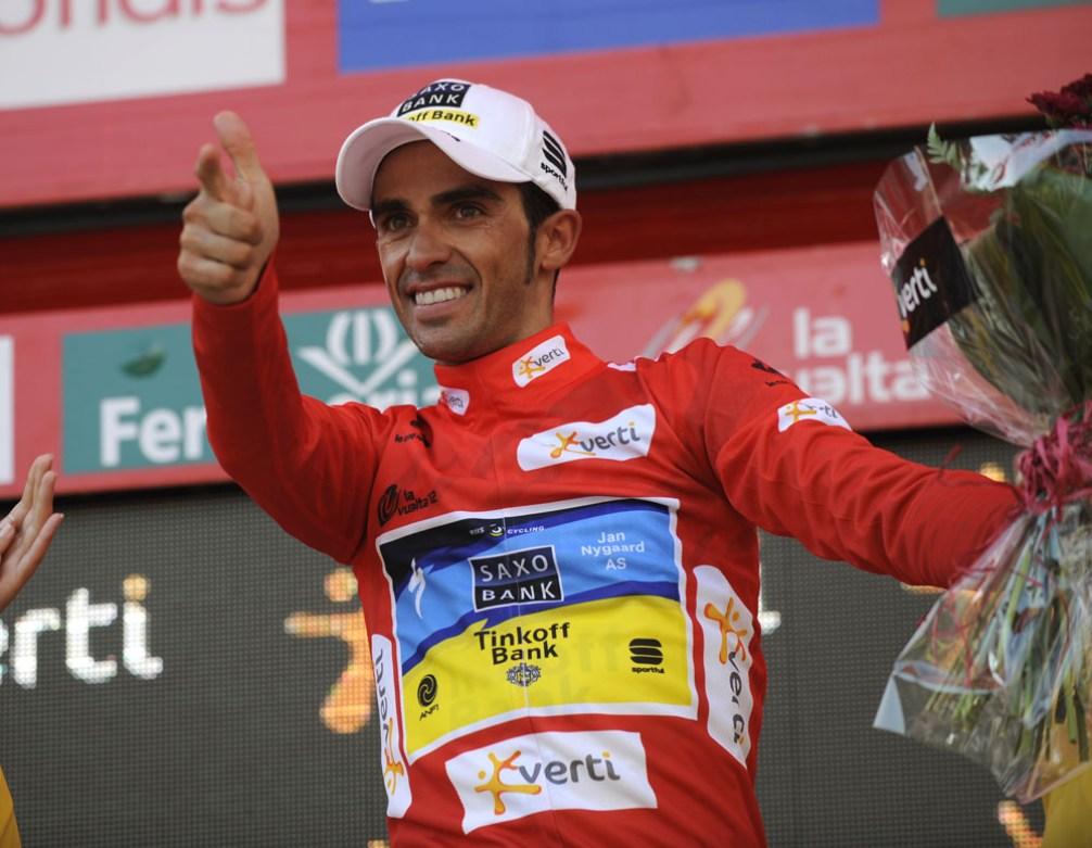 Alberto Contador wins stage seventeen of the 2012 Vuelta España