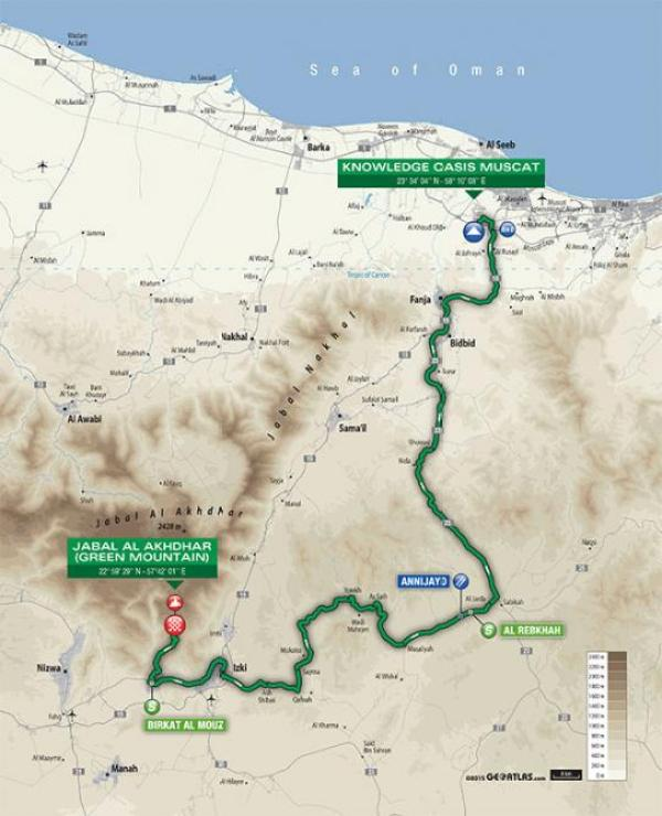 2016_tour_of_oman_stage_4_map_670