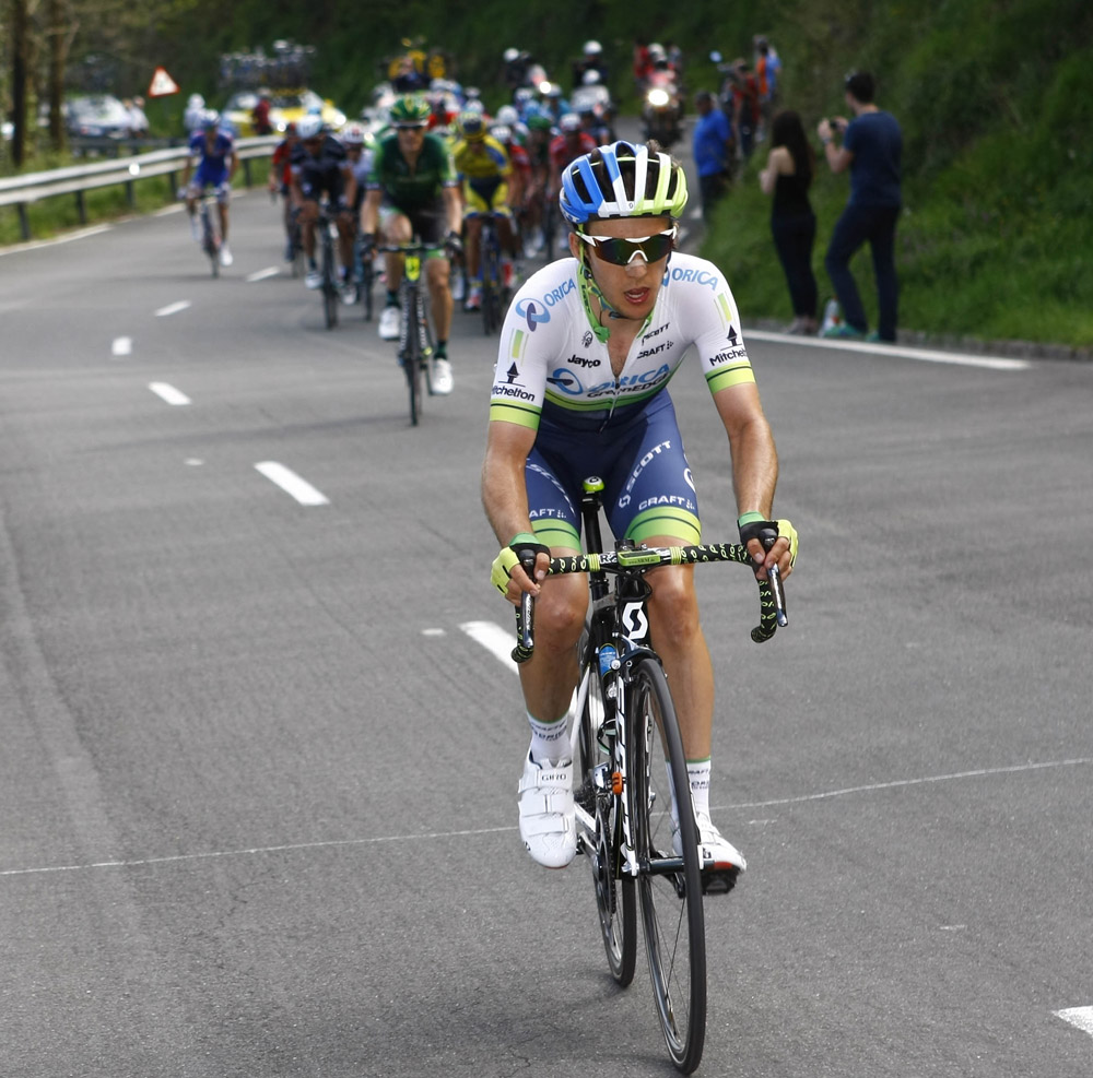 Simon Yates attacks on stage four of the 2014 Tour of the Basque Country