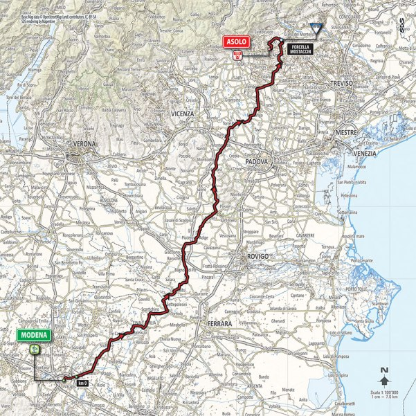 Giro-dItalia-2016-Stage-11-Modena-to-Asolo-route-map