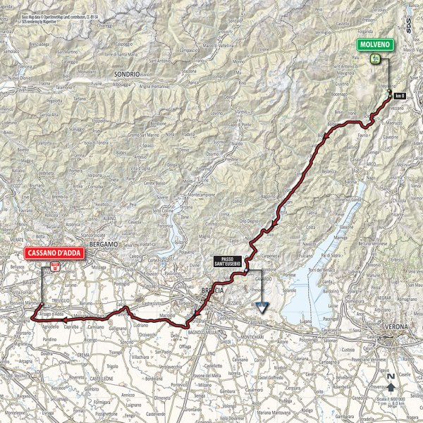 Giro-dItalia-2016-Stage-17-Molveno-to-Cassano-DAdda-route-map