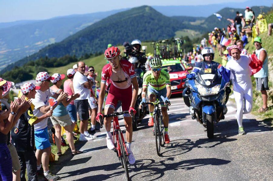 Tour de France 2016 - 17/07/2016 - Etape 15 - Bourg-en-Bresse/ Culoz (160 km) - 35'' d'avance pour Ilnur ZAKARIN (TEAM KATUSHA) et Rafal MAJKA (TINKOFF)