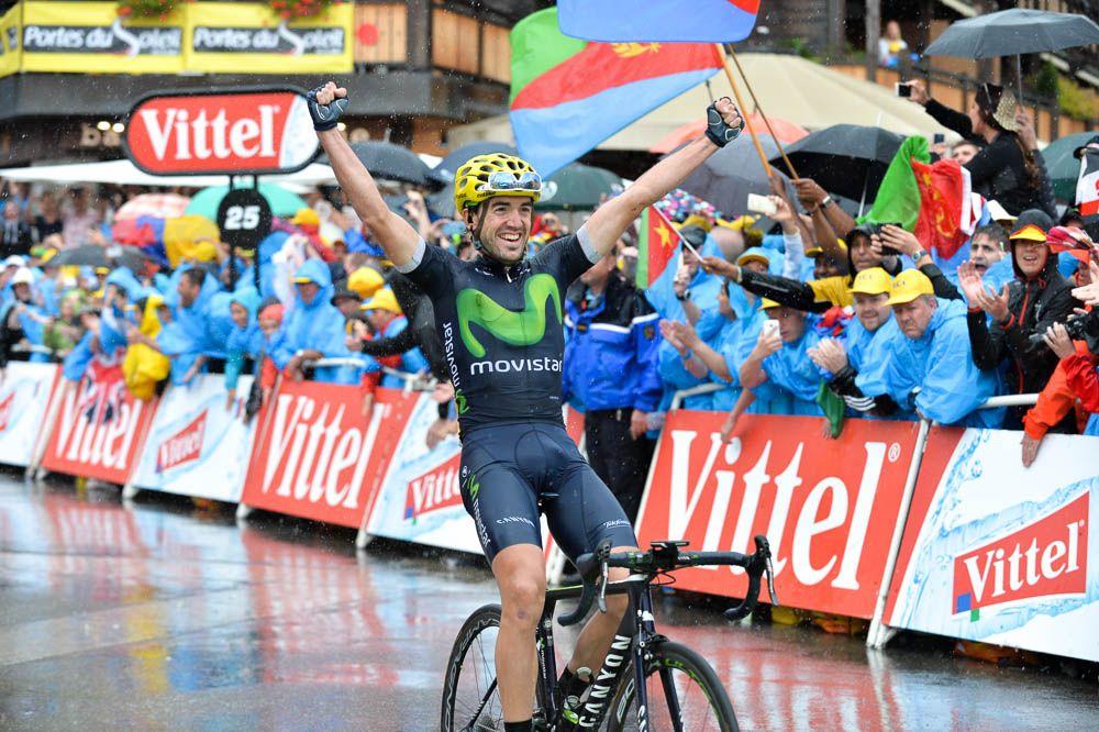 Tour de France 2016 - 23/07/2016 - Etape 20 - Megève / Morzine (146,5 km) - Jon IZAGUIRRE INSAUSTI (MOVISTAR TEAM) vainqueur d'étape