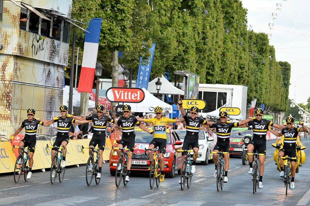 Tour de France 2016 - 24/07/2016 - Etape 21 - Chantilly / Paris Champs Elysées (113 km) - La TEAM SKY à l'arrivée