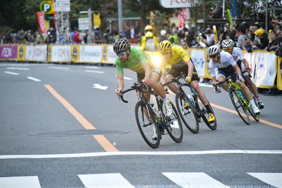 Le Tour de France Saitama Criterium 2016 - 29/10/2016 - Saitama - Japon - Main Race - Le groupe d'échappés, Peter Sagan, Tinfoff, Christopher Froome, Team Sky, Adam Yates, Orica-BikeExchange, Sho Hatsuyama, Bridgestone-Anchor