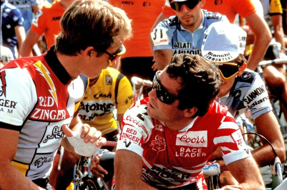 Greg LEMOND and Bernard HINAULT. Argument