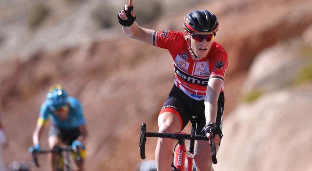 Cycling: 8th Tour of Oman 2017 / Stage 5 Arrival / Ben HERMANS (BEL) Red Leader Jersey/ Celebration / Sama il - Jabal Al Akhdhar-Green Mountain 1235m(152km) / © Tim De Waele