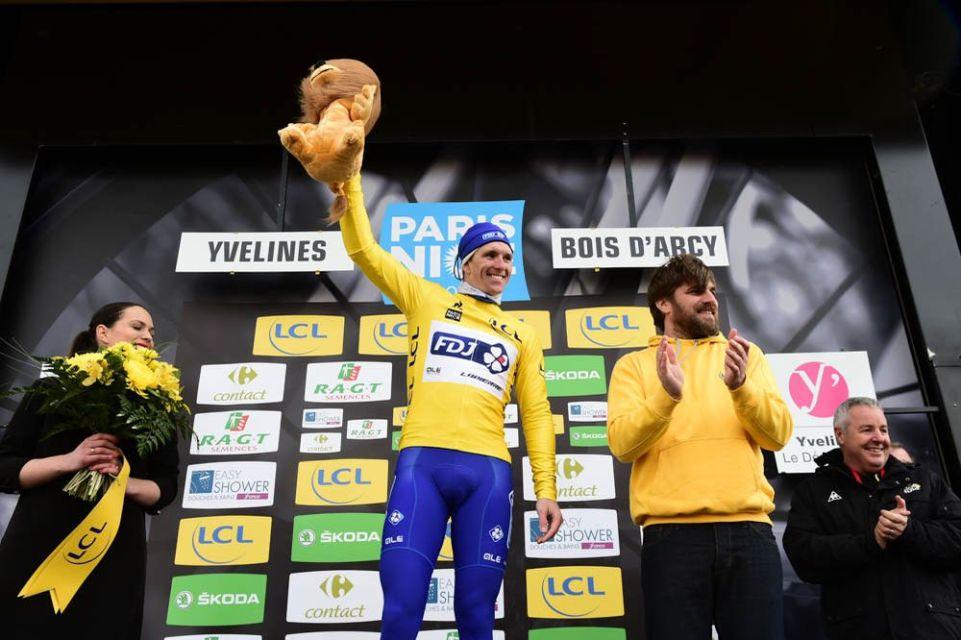 Paris-Nice 2017 - 05/03/2017 - Etape 1 - Bois d'Arcy / Bois d'Arcy (148,5km) - Arnaud DEMARE (FDJ) - Avec le maillot Jaune