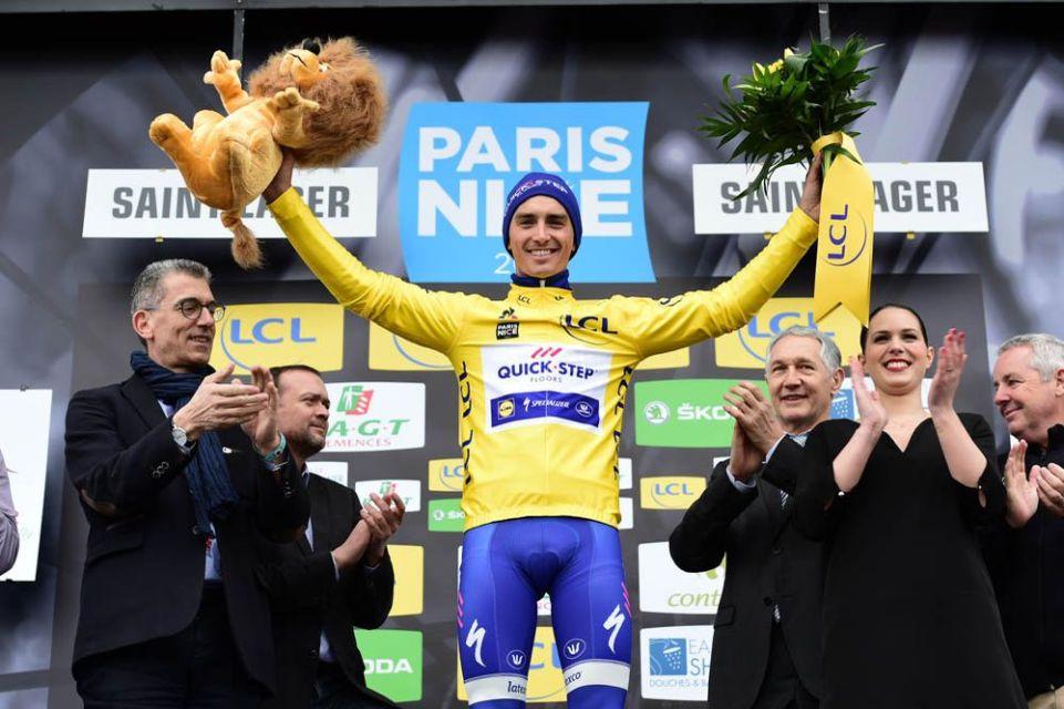 Paris-Nice 2017 - 08/03/2017 - Etape 4 - Beaujeu / Mont Brouilly (14,5km CLM) - Julian ALAPHILIPPE (QUICK - STEP FLOORS) - Avec le maillot Jaune