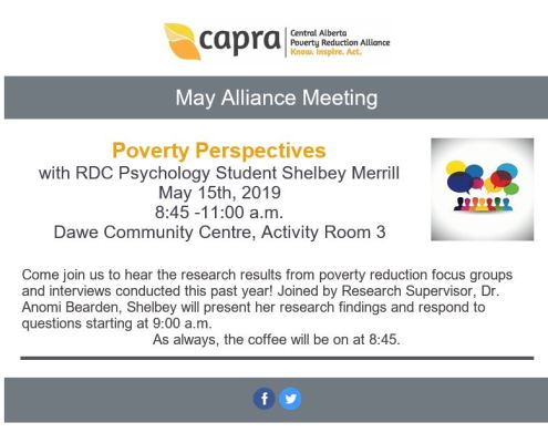 May Alliance Meeting @ Dawe Community Centre