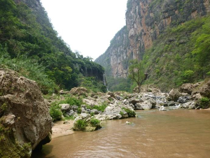 Stream in El Ocote in Chiapas, Mexico
