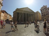 Rome is really cool because these things just creep up on you. I was trying to get my phone situation taken care of, and I stumbled upon the Pantheon.