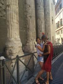 And then a gladiator attacked me.