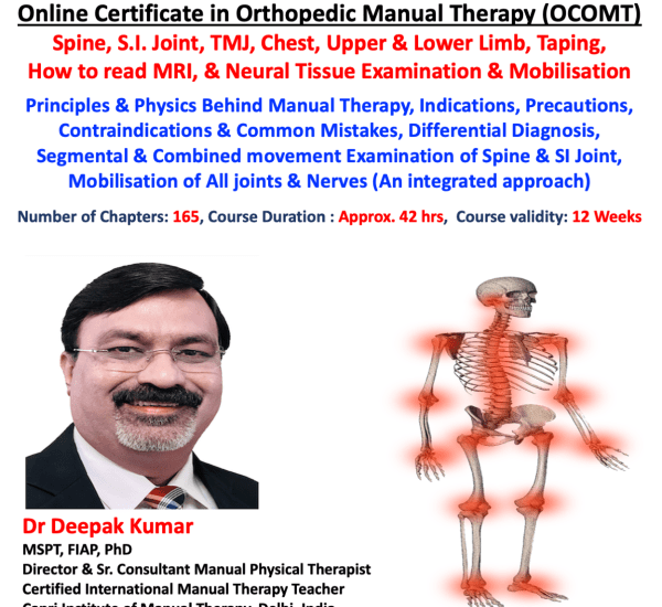 Online Certificate in Orthopaedic Manual Therapy