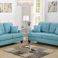 Sofa Loveseat Sets Sale Emerald Green Velvet Bed Leighton 2pc And In Blue