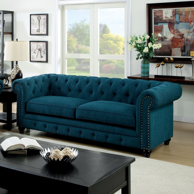Chesterfield Sofa in dark Teal  Sofas  Living Room