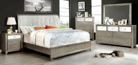 Bryent 4 Piece Queen Bedroom set in silver - Bedroom