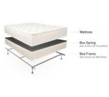 Dream Sleep Queen Mattress Boxspring Metal Frame Set