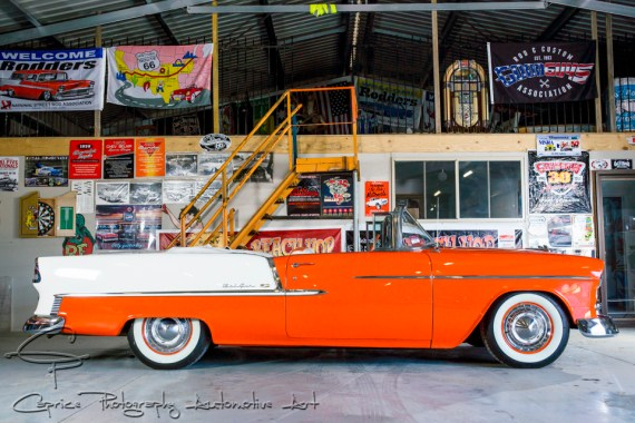 Nestling comfortably between the frame rails is a 454 c.i. big block Chev backed up by a healthy Turbo 350