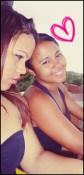 Na cobertura de casa com irmã Rafaela