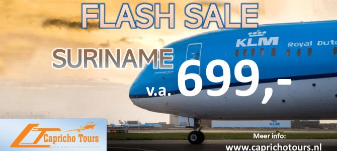 KLM naar Suriname vanaf €699,- All-in*