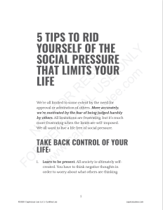 5 TIPS TO RID YOURSELF OF THE SOCIAL PRESSURE THAT LIMITS YOU LIFE