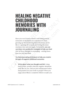 HEALING NEGATIVE CHILDHOOD MEMORIES WITH JOURNALING