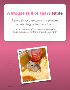 A Mouse Full of Fears Fable
