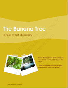 The Banana Tree: A Tale of Self-Discovery