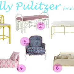 Lilly Pulitzer Chair Armrest At Home Capriciously Inspired