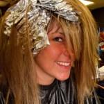 Foil Highlights in a Clients Hair