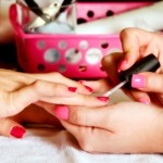 Client Receives a Manicure at the Student Salon