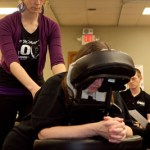 Chair Massage Demonstration given by Capri College Instructor