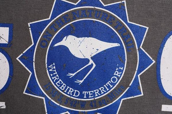 St Helena T-shirt with Wirebird Territory design