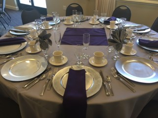 Wedding Table & Napkin Fold Choices