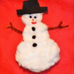 Pulled Cotton Snowman