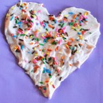 Shaving Cream Hearts with Candy Sprinkles
