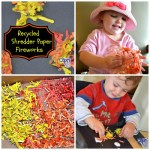 Recycled Shredder Paper Fireworks Craft