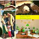 Reptile Theme Birthday Party