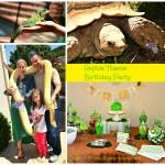 Reptile Theme Birthday Party