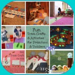 24 Train Crafts, Activities and DIY projects