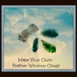 Make Pretty Feather Window Clings-a tutorial